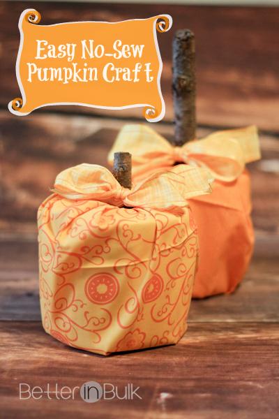 Easy no-sew pumpkin craft