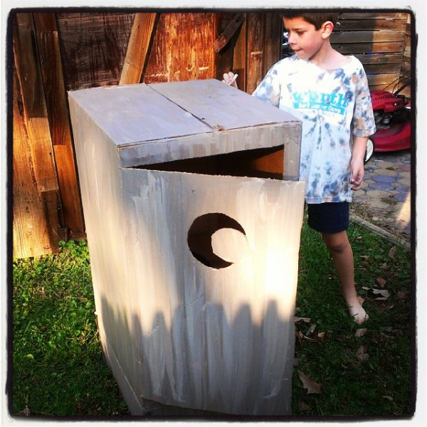 Outhouse costume for Halloween