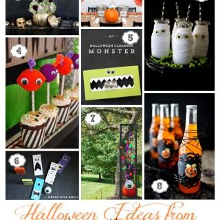 evite gatherings Halloween collage