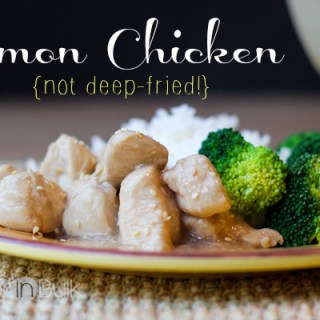 lemon chicken recipe - not deep-fried