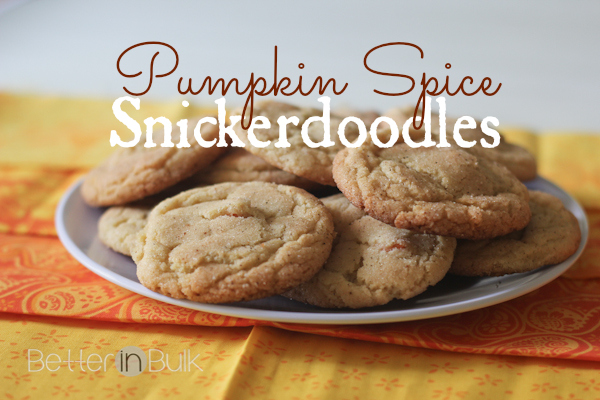 Pumpkin spice snickerdoodle cookies with Pumpkin spice Hershey's Kisses