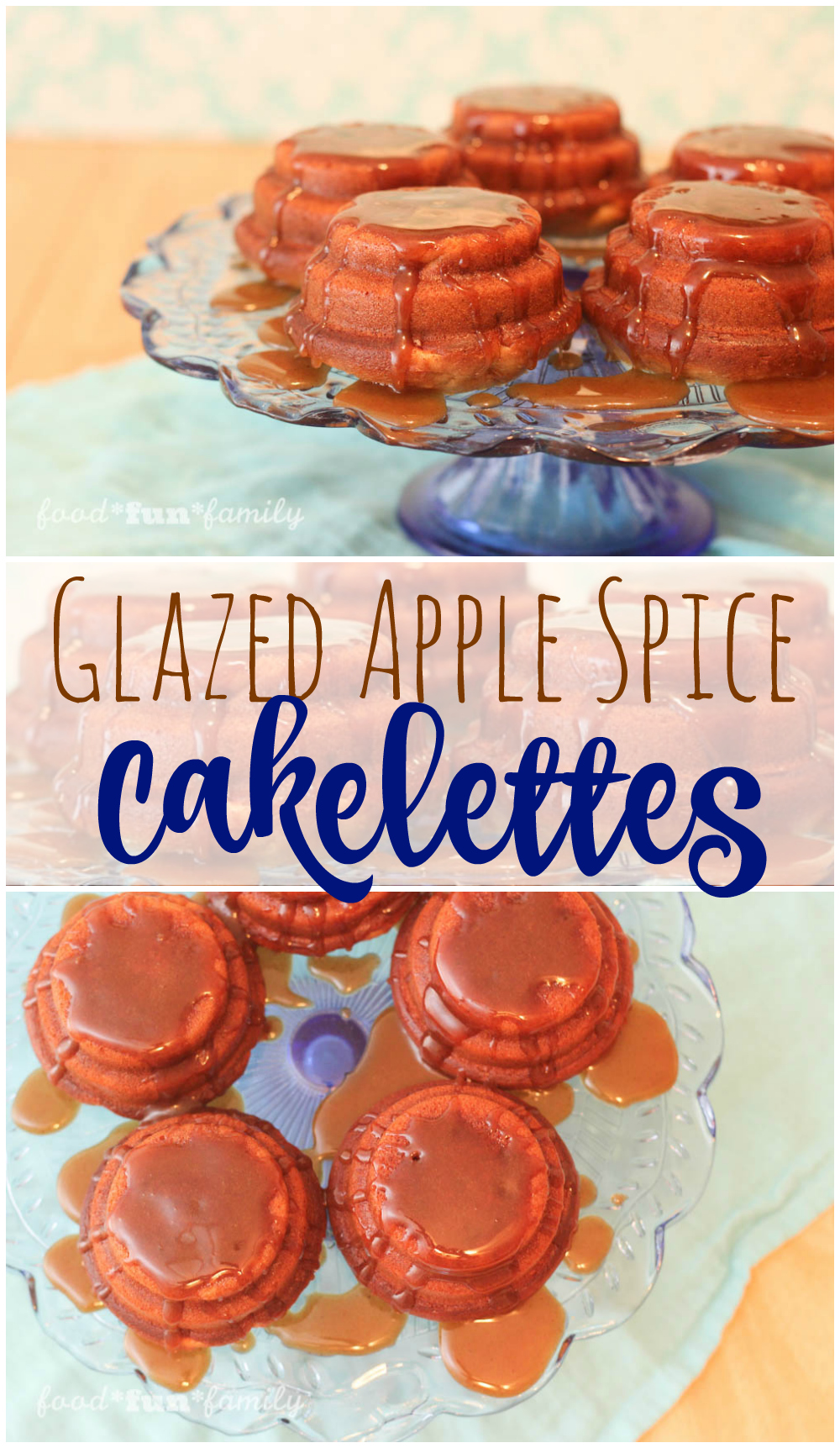 Glazed Apple Spice Cakelettes Recipe from Food Fun Family