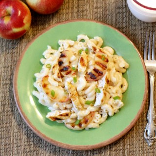 This is not your blue box macaroni and cheese! Kids and adults alike will love the fresh new taste of this white cheddar mac and cheese with grilled chicken and apples!