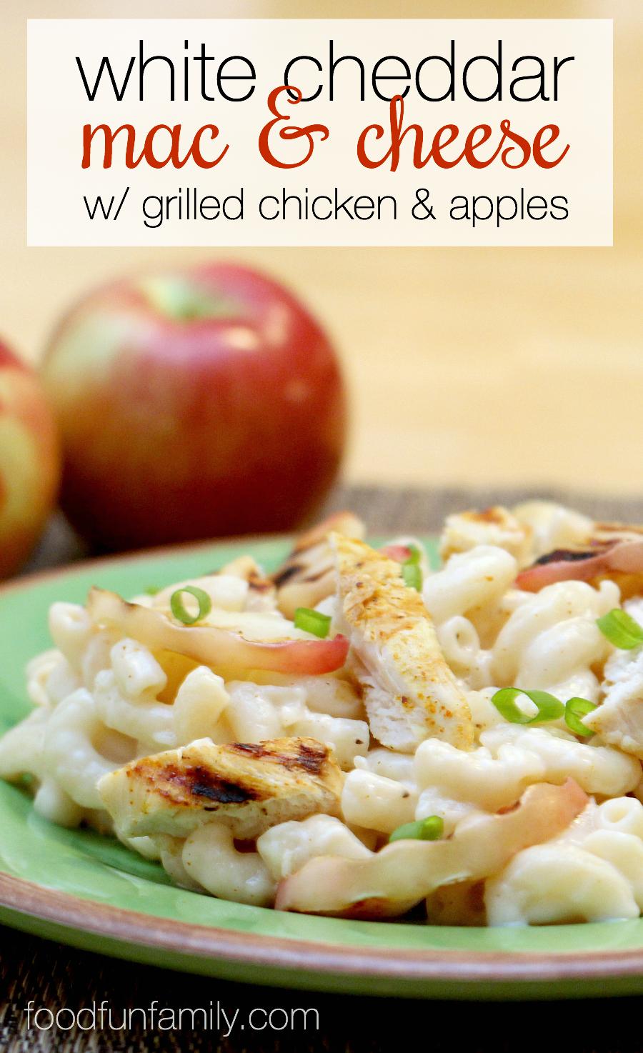 White Cheddar Macaroni And Cheese Recipe: White Cheddar Mac And Cheese With Grilled Chicken And