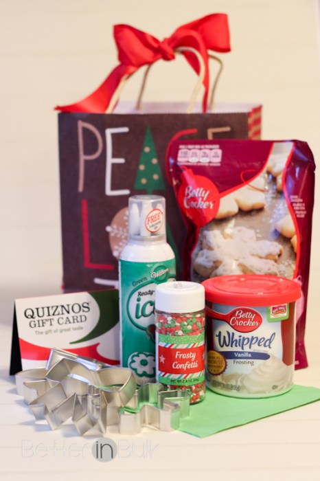 Quiznos holiday cookie kit giveaway