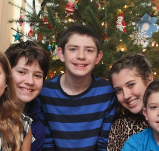 The Traditional Christmas Morning Picture {PSF Give Me Your Best Shot}