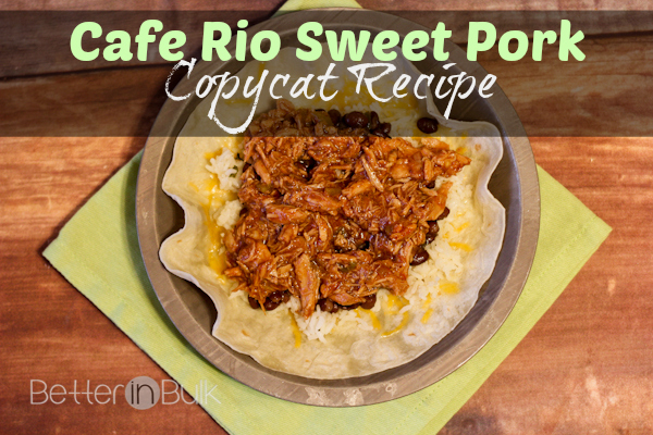 Cafe Rio Sweet Pork Enchilada Recipe