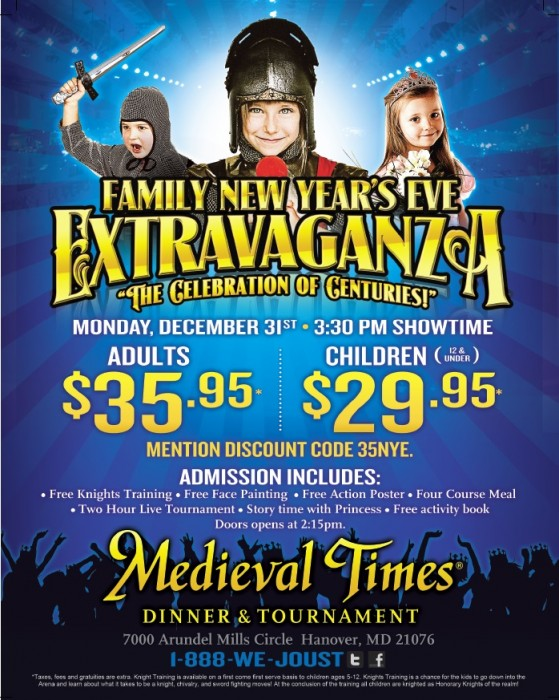 medieval times new years eve