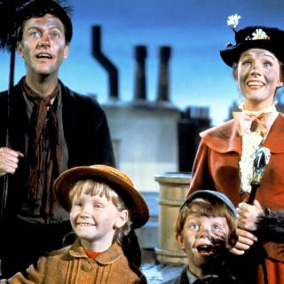 Mary Poppins, Bert and the Banks children