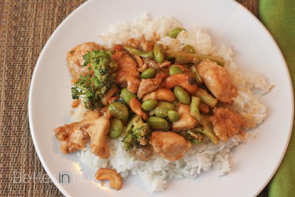 Spicy Honey Cashew Chicken #15MinuteSuppers