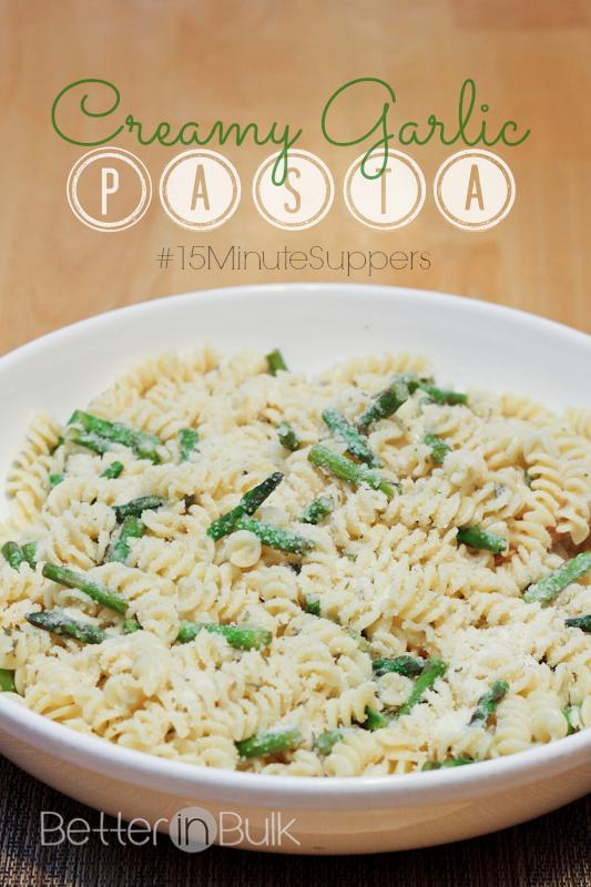 creamy garlic pasta #15minutesuppers