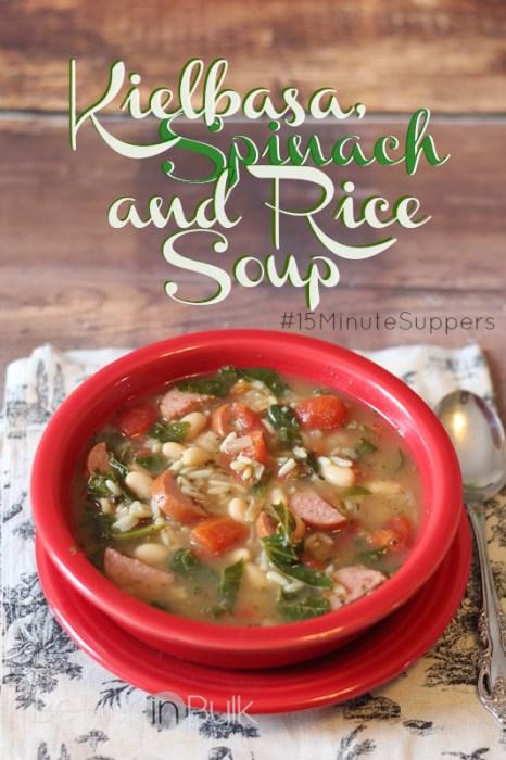 kielbasa spinach and rice soup