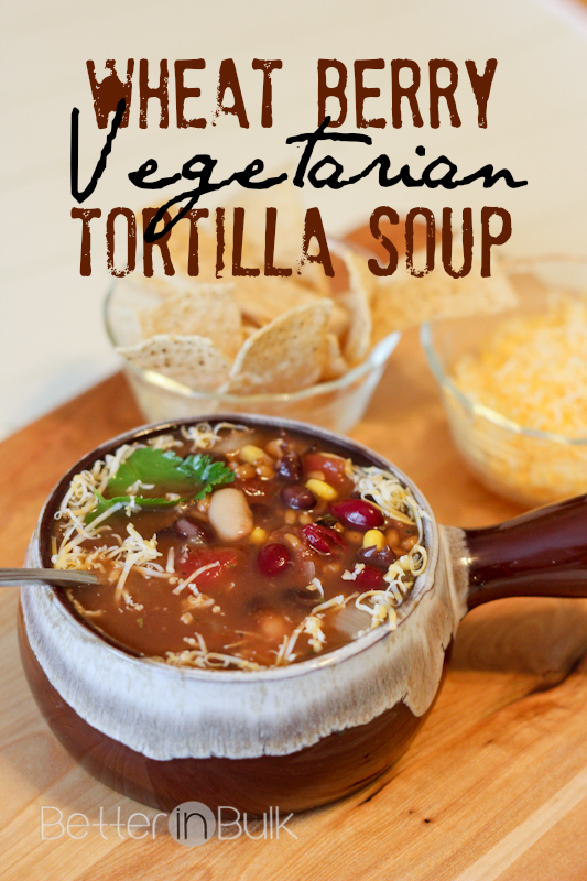 wheat berry vegetarian tortilla soup