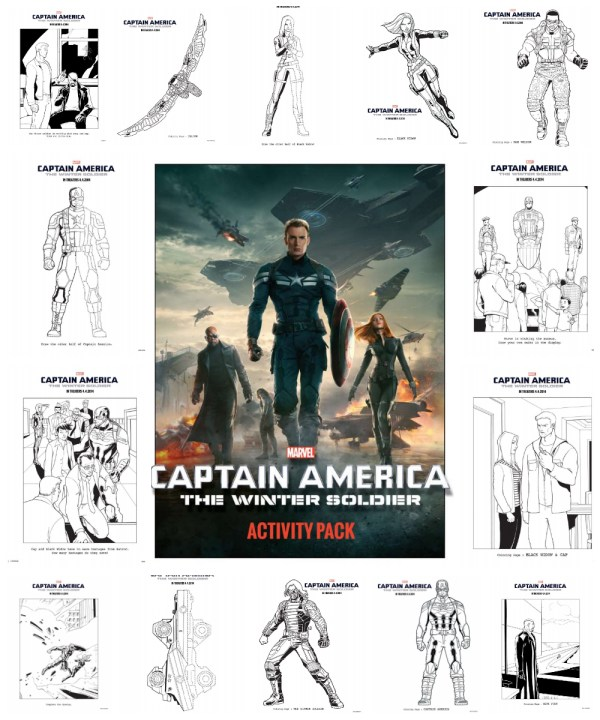 Captain america the winter soldier coloring sheets for Captain america the winter soldier coloring pages