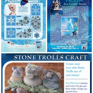 Frozen On Blu-ray/DVD PLUS *New* Frozen Activity Sheets and Coloring Pages