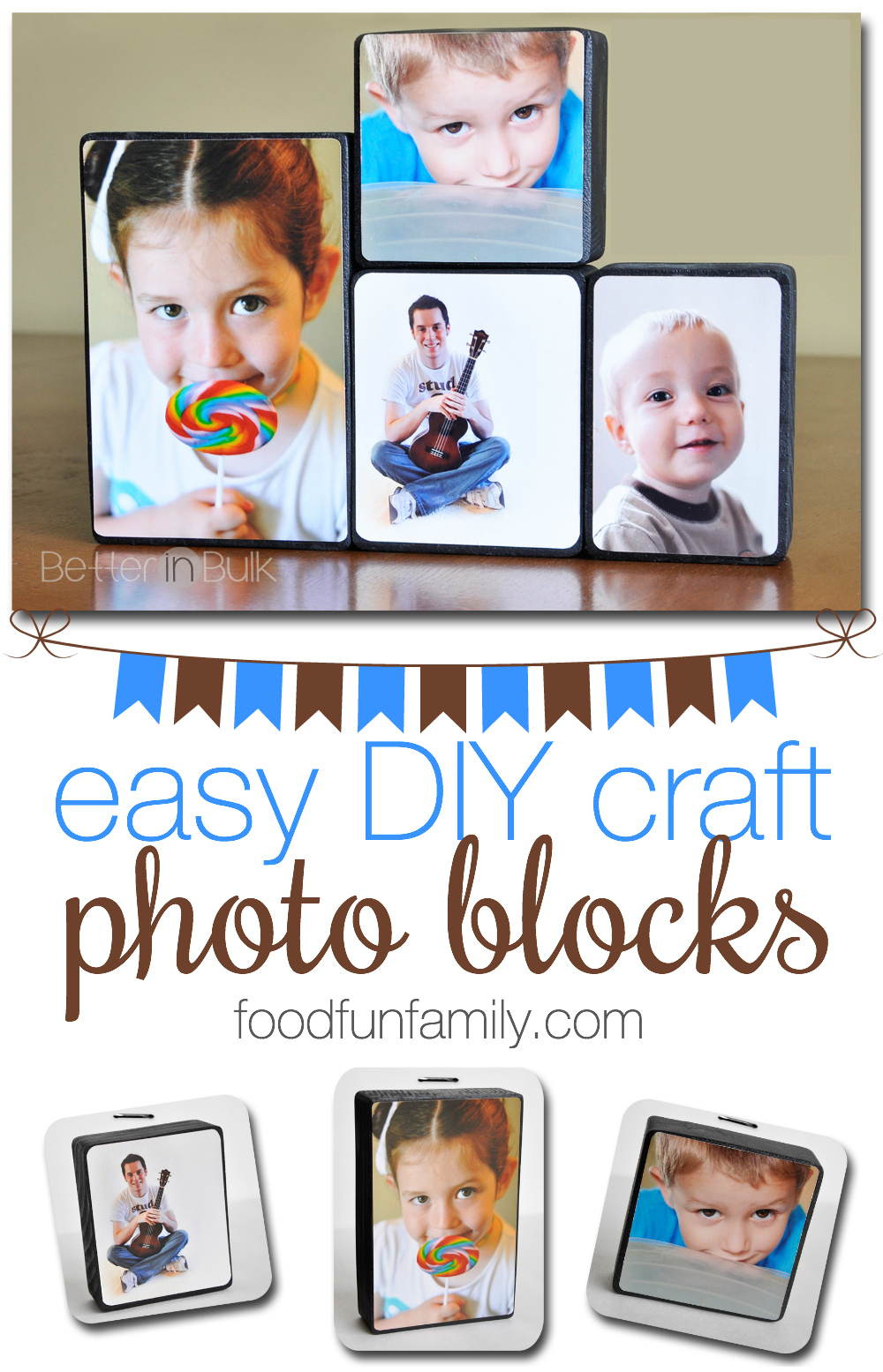 Photo Blocks: an easy DIY craft project that uses your favorite family pictures and turns them into beautiful decor for your house!
