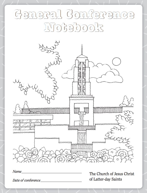 LDS conference notebook from LDS.org