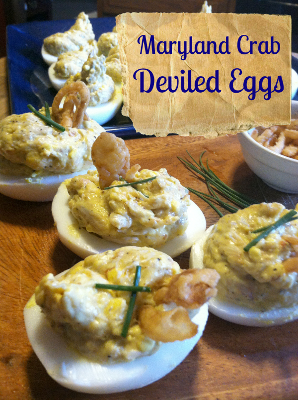 maryland crab deviled eggs