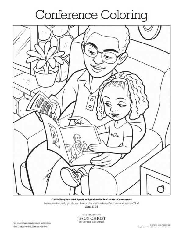 LDS General Conference Activities for Kids #LDSConf