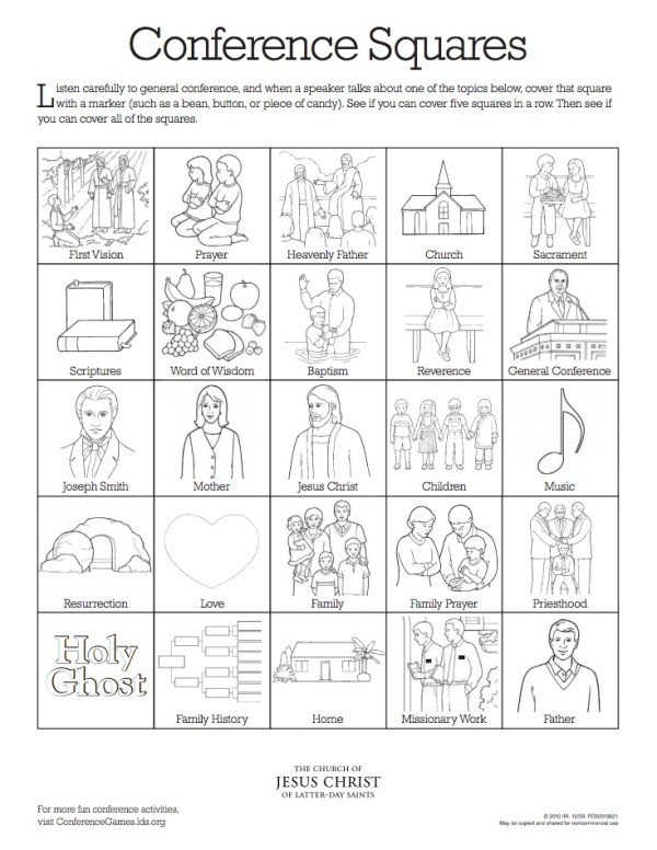 LDS general conference squares