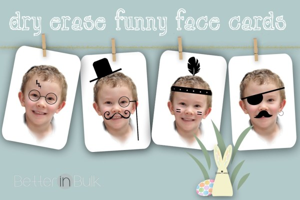 dry erase funny face card craft