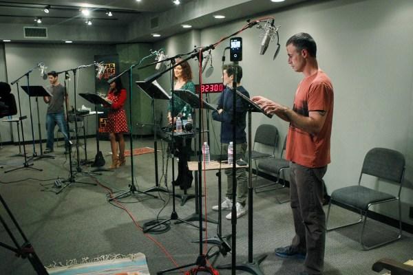 STAR WARS REBELS - Recording session. (DISNEY XD/Rick Rowell) BEN DISKIN, TIYA SIRCAR, VANESSA MARSHALL, TAYLOR GRAY, FREDDIE PRINZE JR.