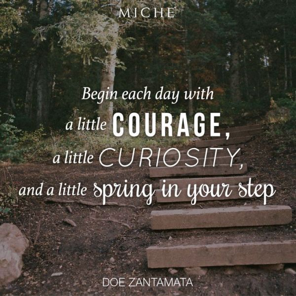 Love this quote from Miche's Pinterest page