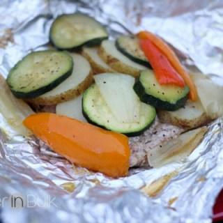 Grilled Pork Medallions and Vegetables