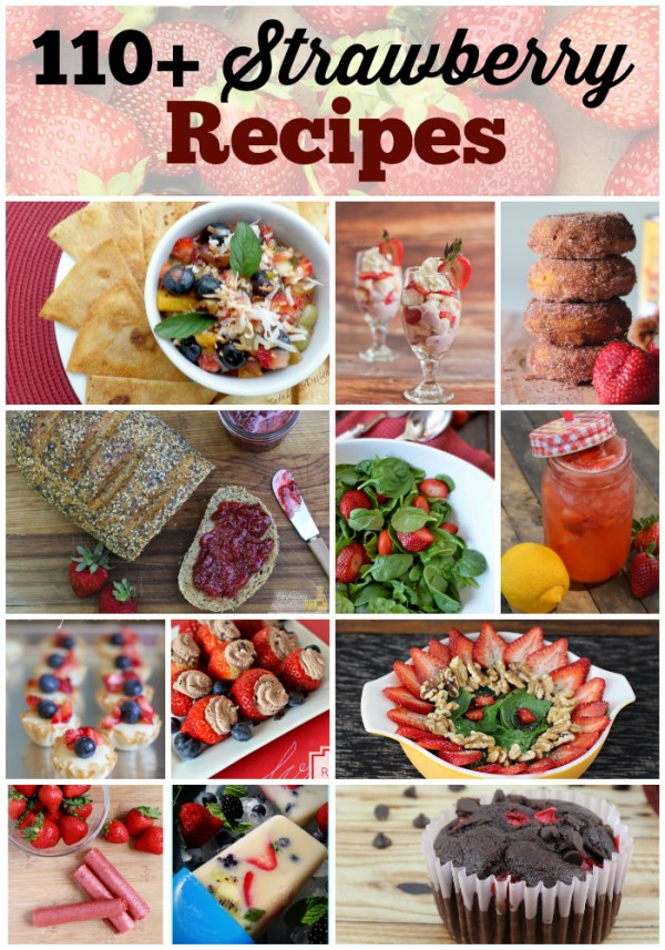 round up of Strawberry Recipes