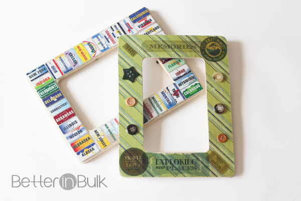 Summer memory picture frame craft
