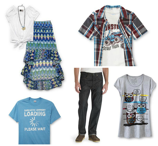 back to school clothes shopping