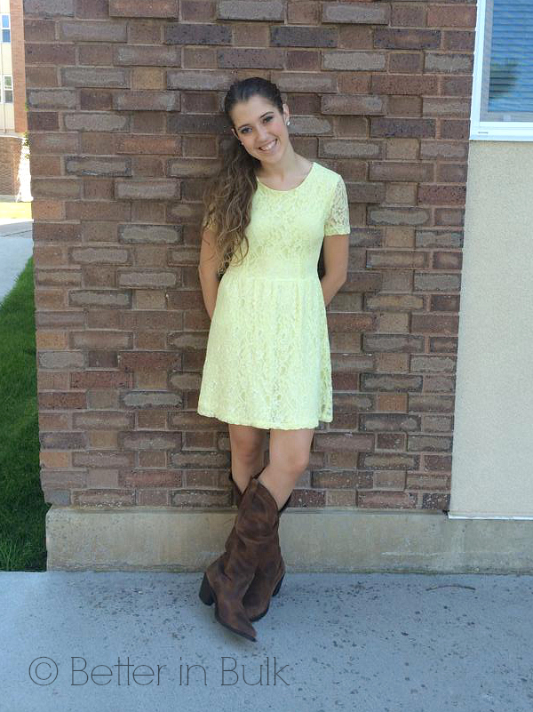 tailgating fashion - yellow dress 2