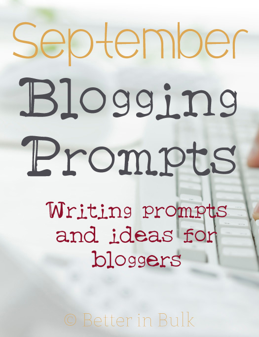 September blogging prompts
