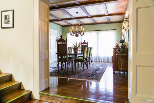Dining room in Walt Disney's Woking Way home