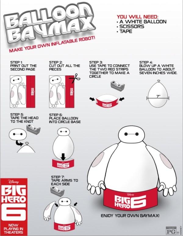 Baymax balloon robot