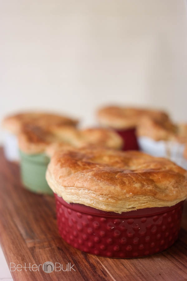 Individual Beef Potpies recipe - my kids love when they have their own pot pie, especially with a flaky pastry crust like this! It makes dinner fun and delicious!