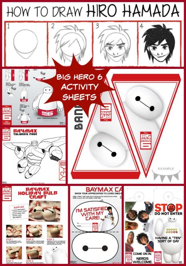 Big Hero 6 Activity Sheet Collage