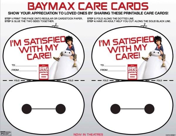 Big Hero 6 care cards