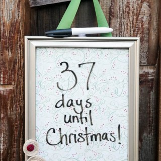 Christmas Countdown Frame Craft