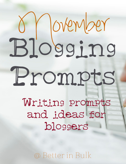 November blogging prompts