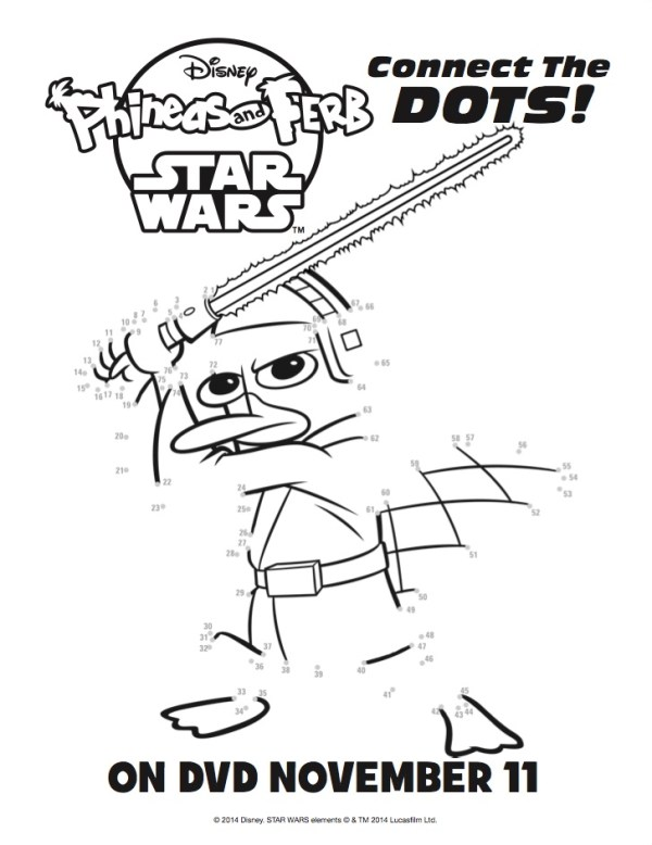 phineas and ferb star wars connect the dots