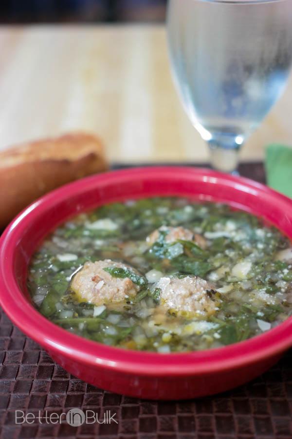 Easy Italian wedding soup with Johnsonville meatballs #MeatballMasters