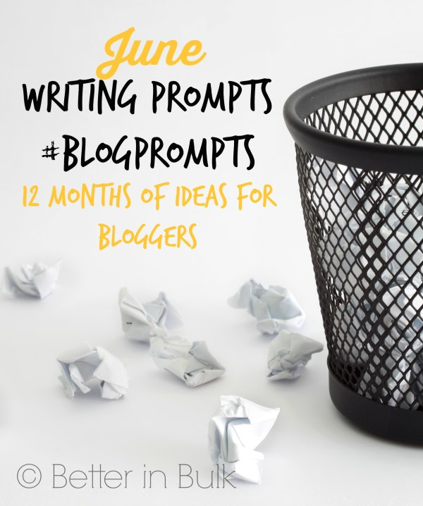 June blog prompts