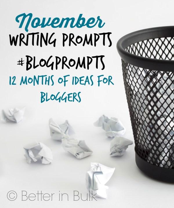 November blog prompts