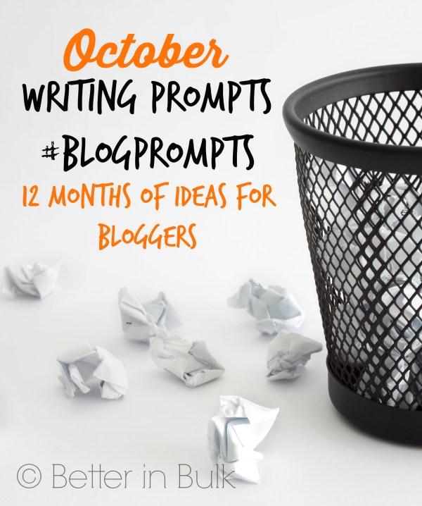 October blog prompts