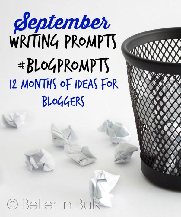 September blog prompts