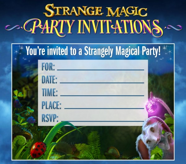Strange Magic - invitations
