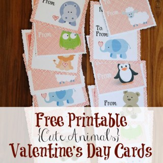 Cute Animal Valentine's Day Cards {Free Printable}