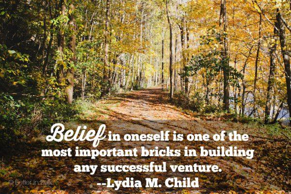 belief in oneself
