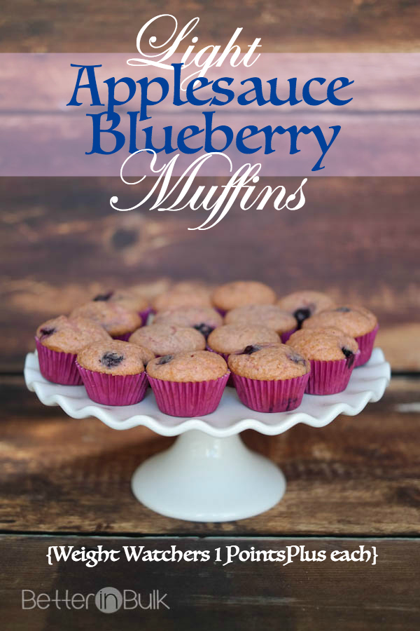 light applesauce blueberry muffins recipe